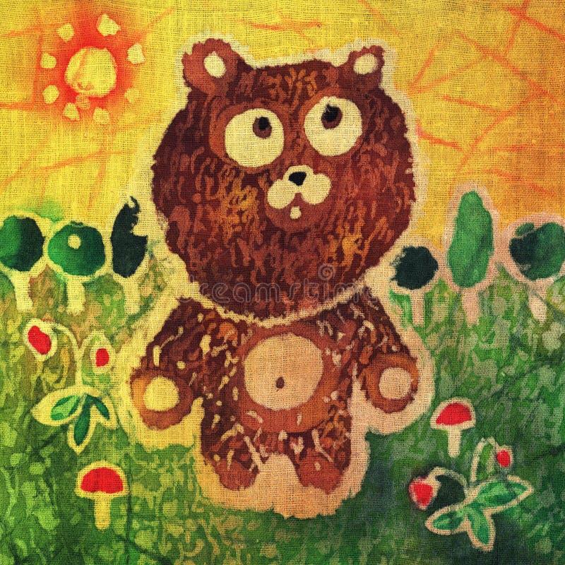 gå för björnnalle stock illustrationer