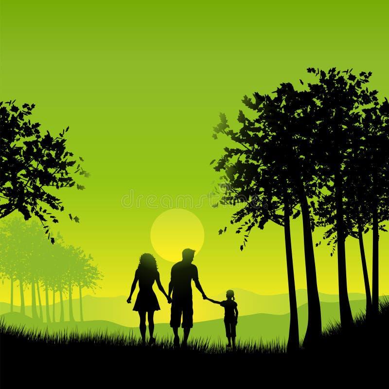 gå för familj vektor illustrationer