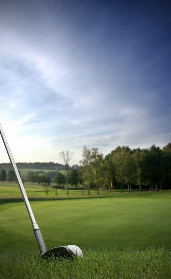 gå i flisor golfgreen för boll på royaltyfri fotografi