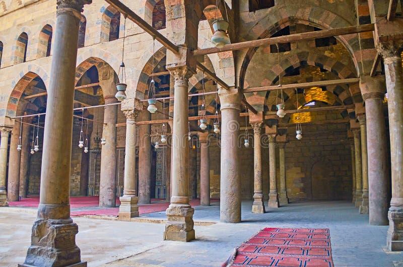 Gå i galleri av Al-Nasir Muhammad Mosque, Kairocitadellen, Egyp arkivbilder