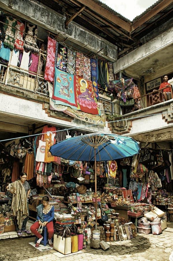 Marknadsföra av Bali Indonesien royaltyfri fotografi