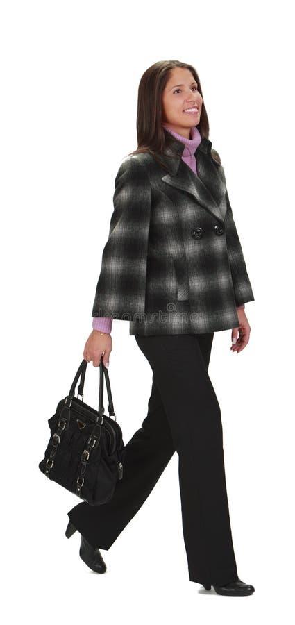Gå Kvinna Arkivfoto