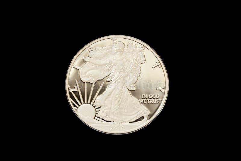 Gå Liberty Silver Proof Dollar royaltyfria foton