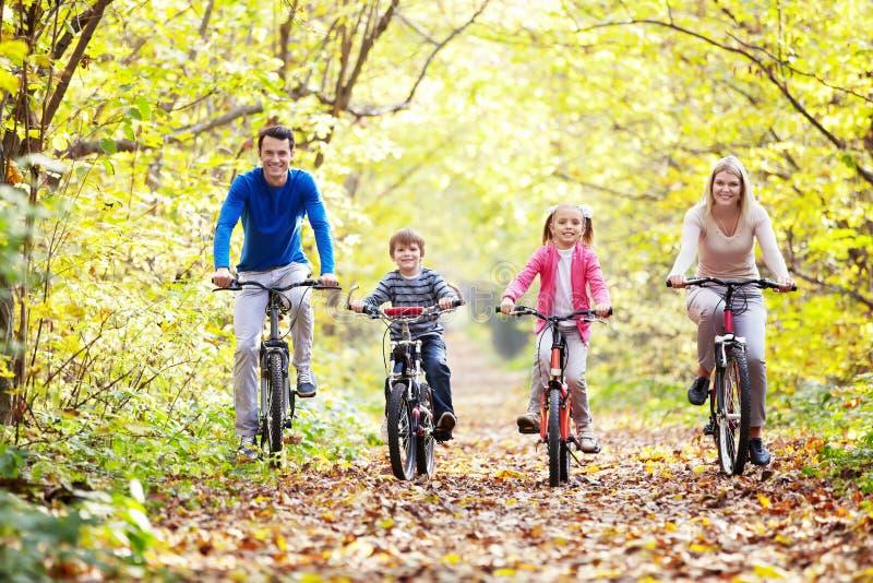 Gå på cyklar arkivfoto