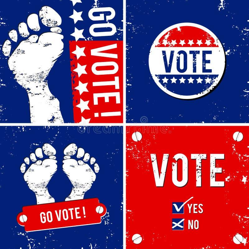Download Gå röstar vektor illustrationer. Illustration av stämpel - 27285021