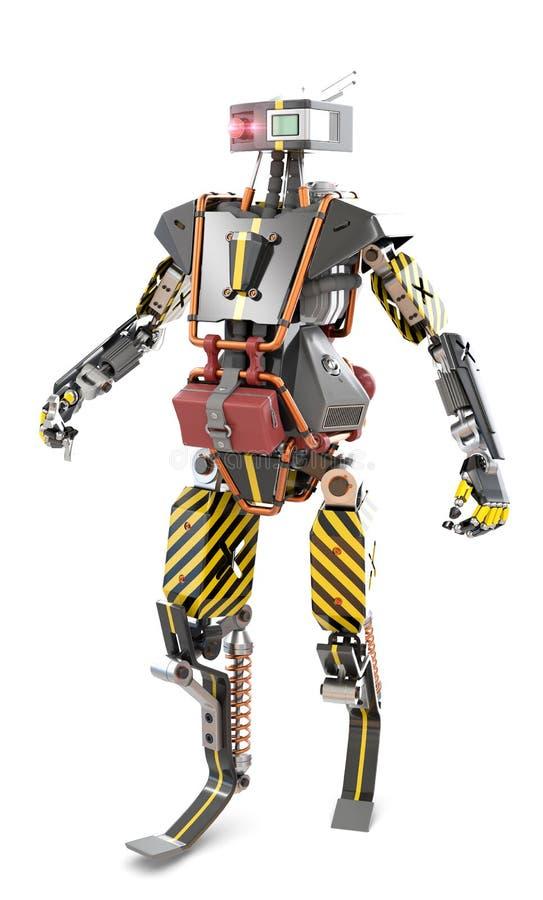 Gå robotarbetaren royaltyfria bilder