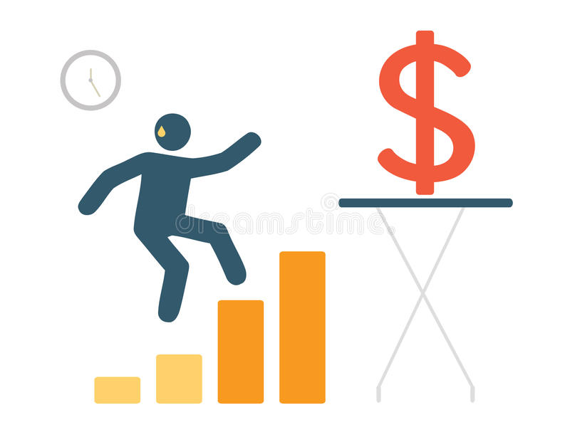 Gå till framgång eller gå till vinnaremarknadsföringsbegreppet royaltyfri illustrationer