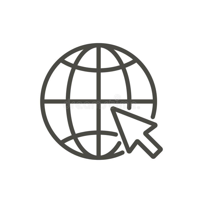 Gå till rengöringsduksymbolsvektorn Linje websitesymbol vektor illustrationer