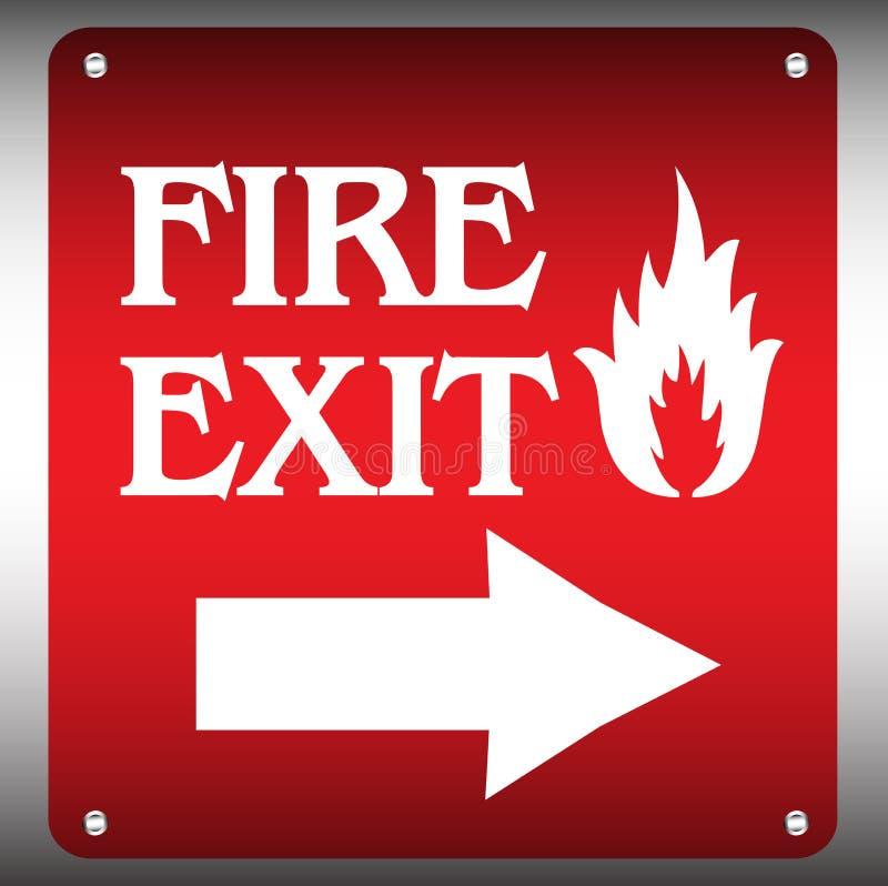 gå ut från brandplattan royaltyfri illustrationer