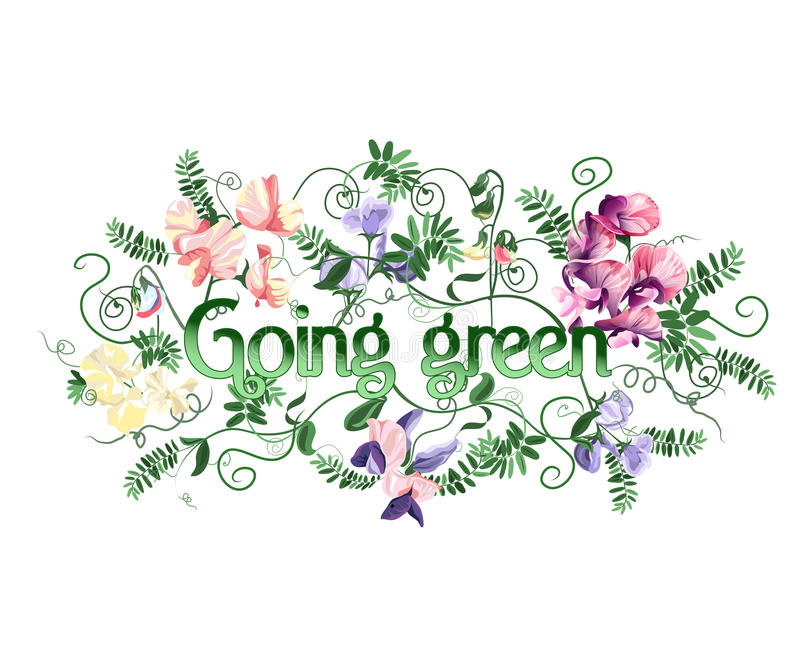Download Gående green vektor illustrationer. Illustration av blom - 27285958