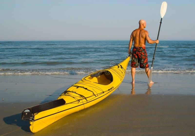 gående kayaking arkivfoton