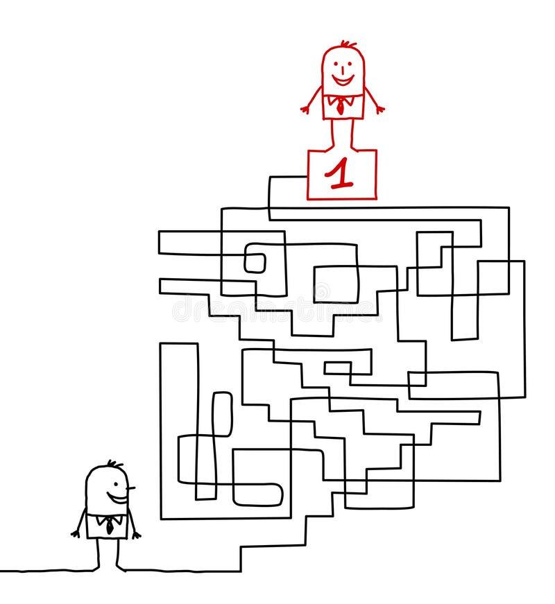 gående ledarskap till royaltyfri illustrationer