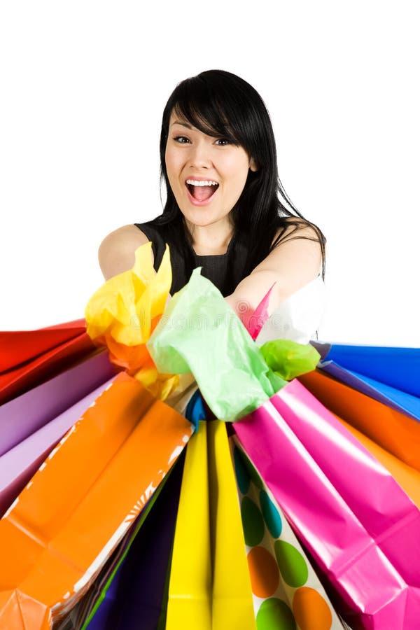 gående shopping royaltyfria bilder