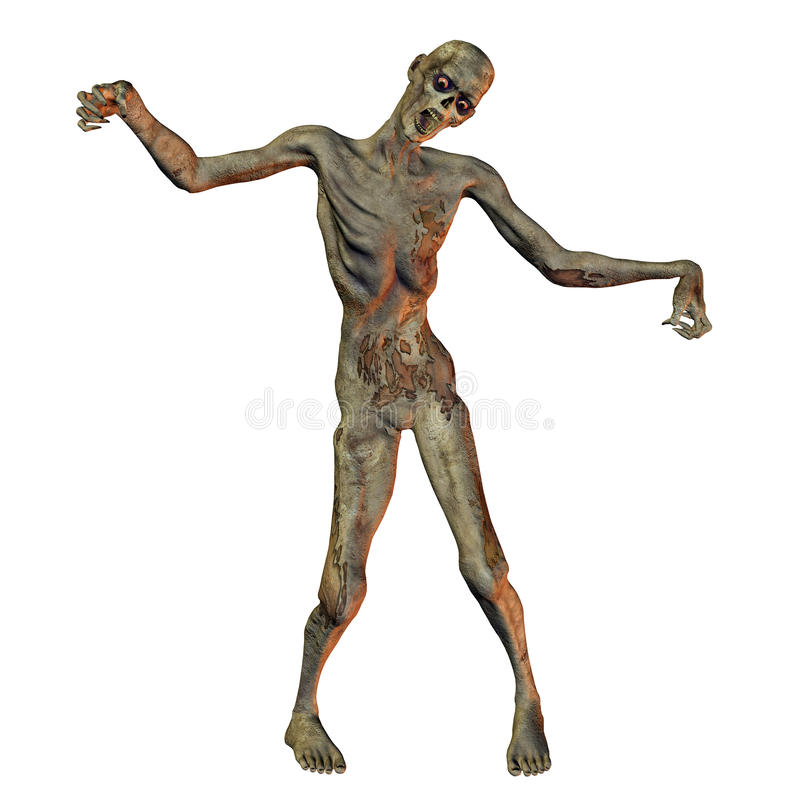 gående zombie stock illustrationer