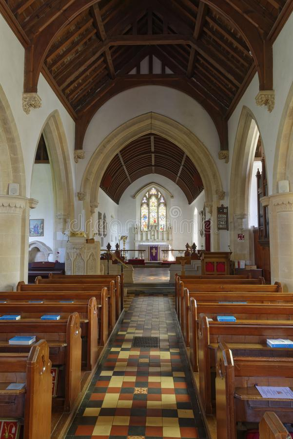 Gång av St John Baptist Church, gamla Sodbury arkivfoton