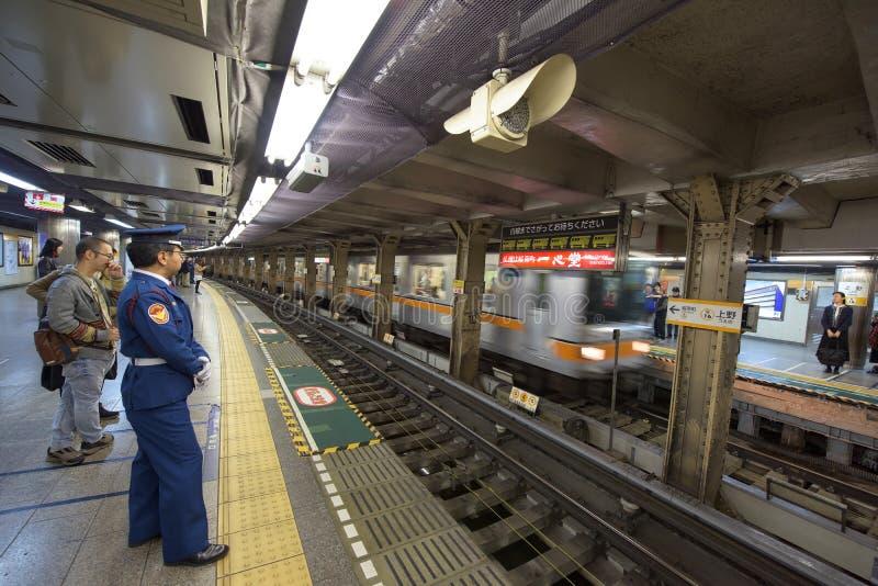 Gångtunnel för Tokyo tunnelbanapasserande royaltyfri bild
