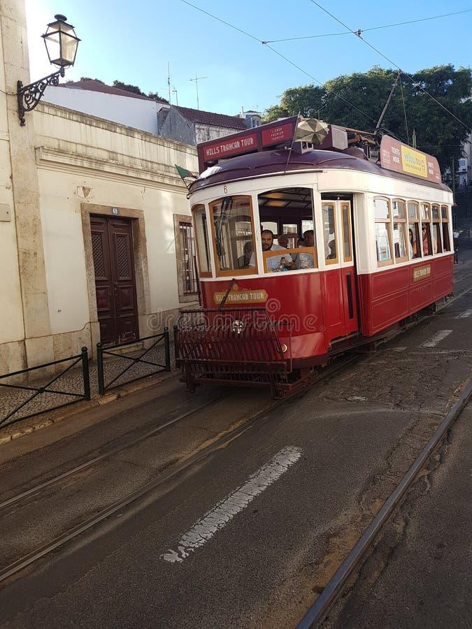 Gångtunnel i lissabon royaltyfria foton