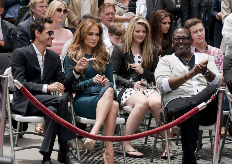 går den fullare hollywood simon för ceremoniberömmelse stjärnan royaltyfria bilder