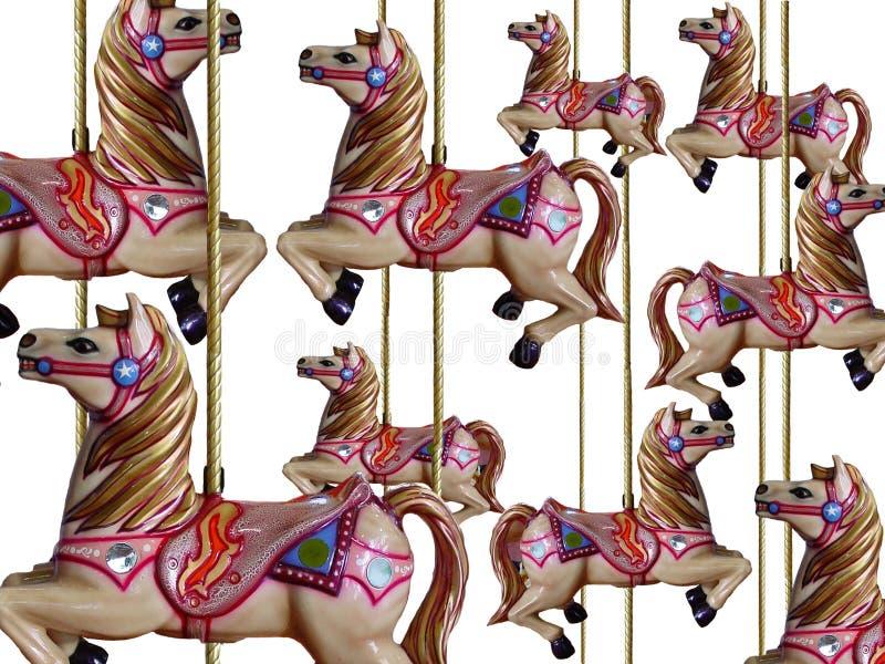 går den glada rounden för hästar royaltyfri illustrationer