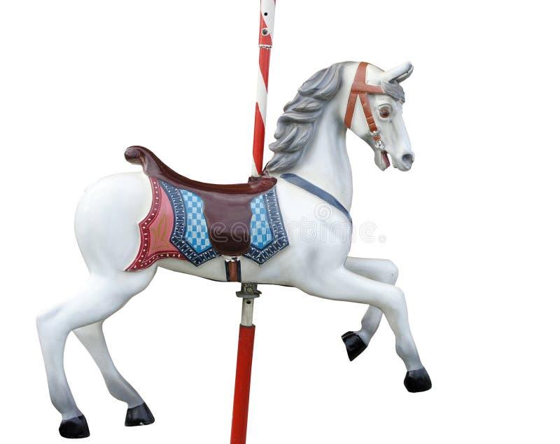 går den glada rounden för hästen arkivfoton