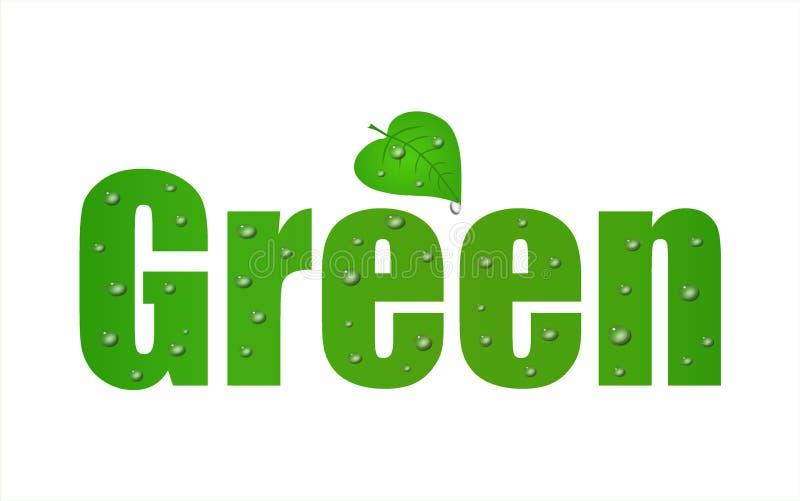 går den gröna leafen stock illustrationer