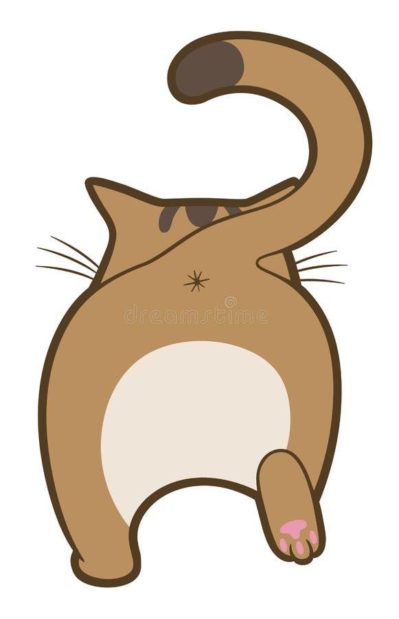 Går den gulliga katten för tecknade filmen bort royaltyfri illustrationer