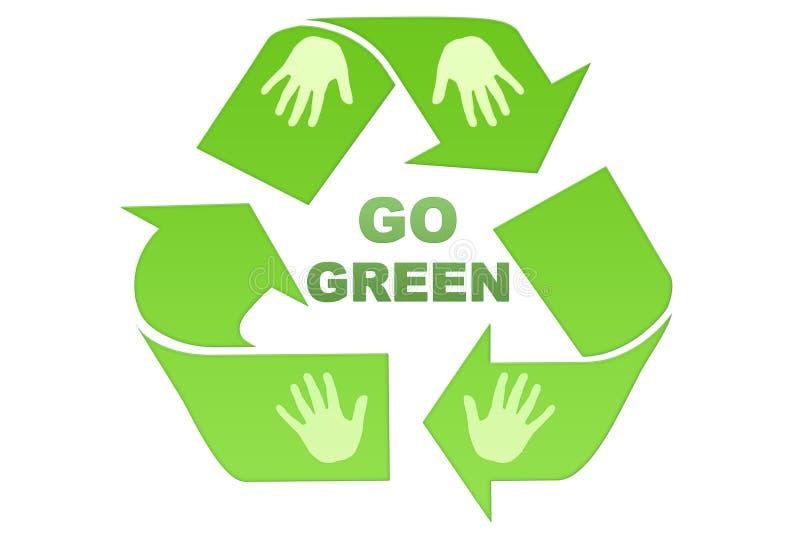 går green stock illustrationer