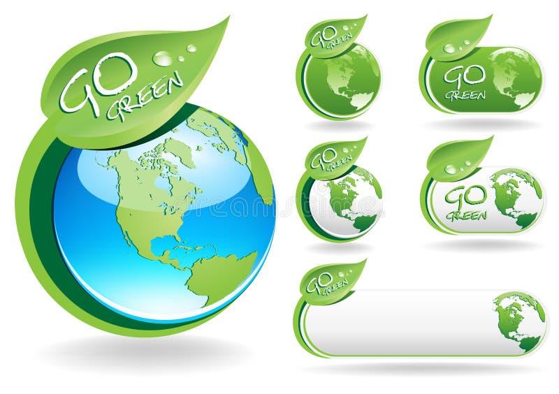 går green vektor illustrationer