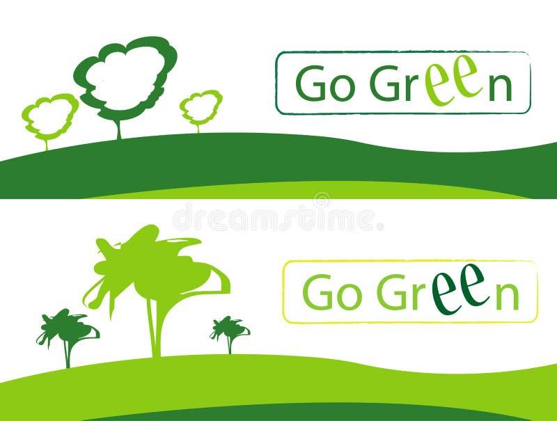 går green royaltyfri illustrationer