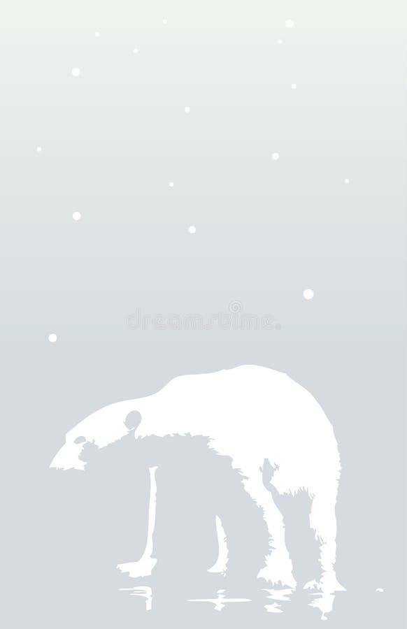 går polart snöig för björndag vektor illustrationer