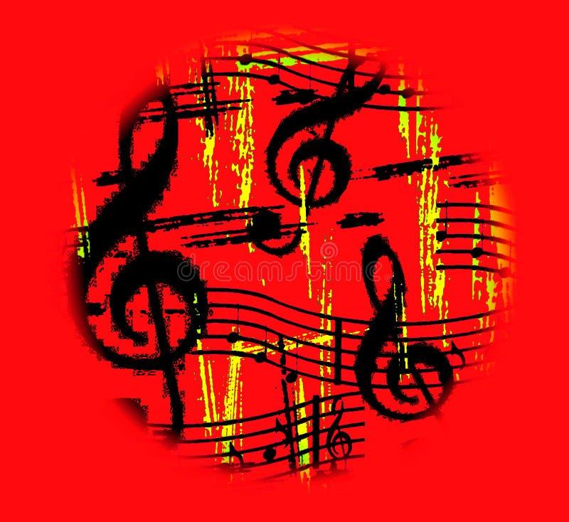 går rund varm musik vektor illustrationer