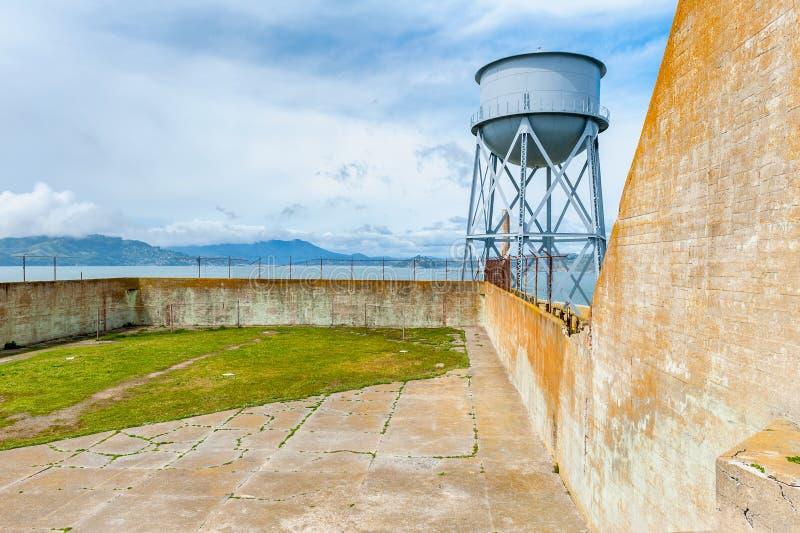 Gård San Francisco för övning för Alcatraz ö arkivbilder