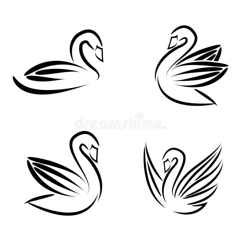 Gåslogomall stock illustrationer