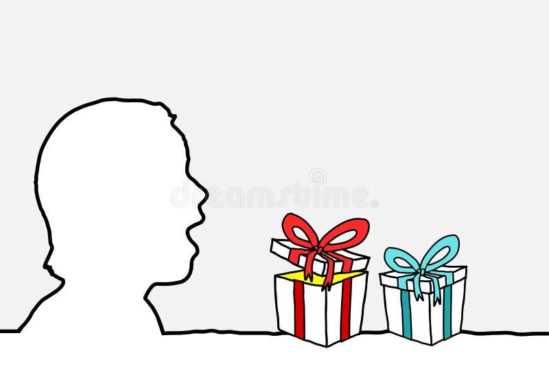 gåvaöverrrakning vektor illustrationer