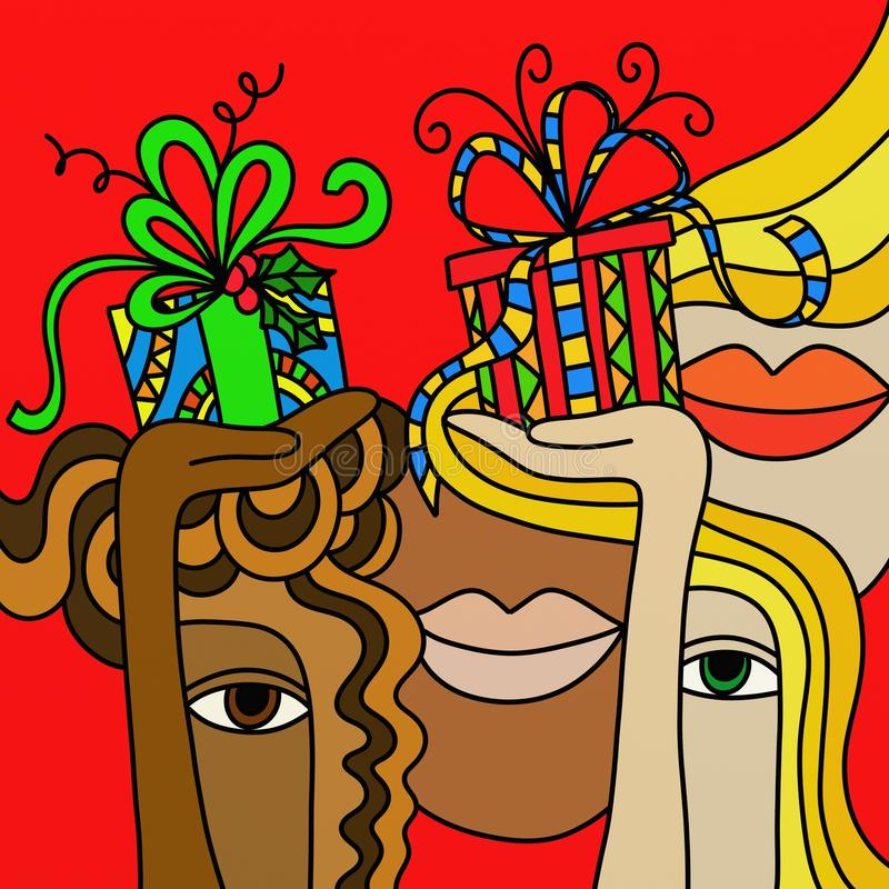 gåva royaltyfri illustrationer