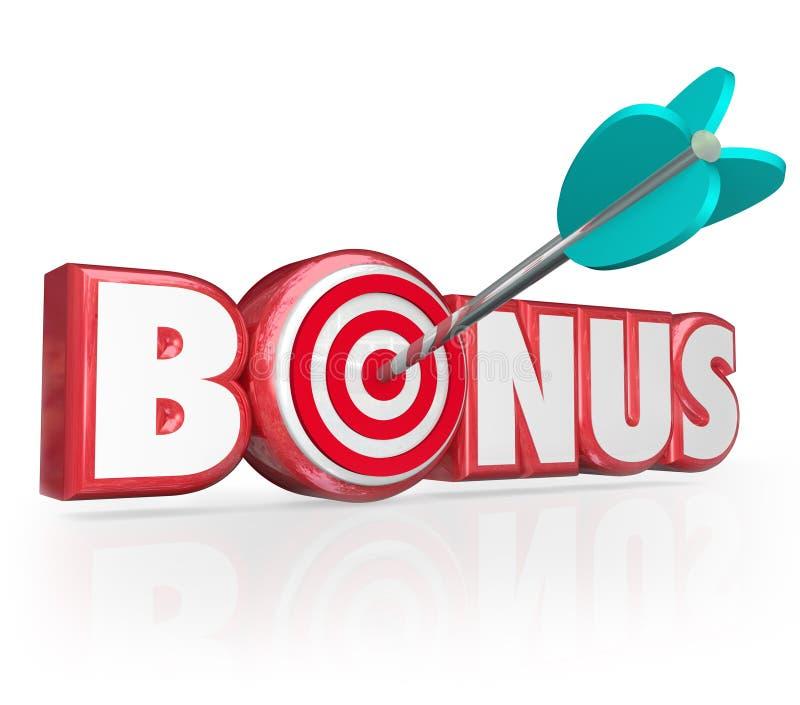 Gåva för röda bokstäver för bonusord 3d högvärdig plus ökad fördel royaltyfri illustrationer