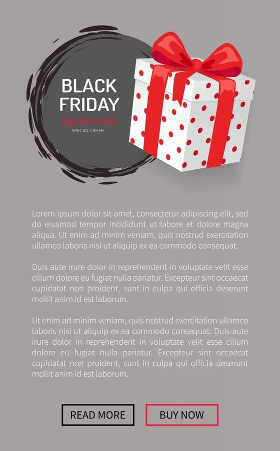 Gåva för shopping för Black Friday närvarande packeöverraskning vektor illustrationer
