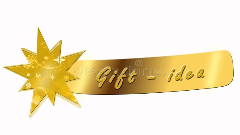 Gåva - idébaner med stjärnan royaltyfri illustrationer
