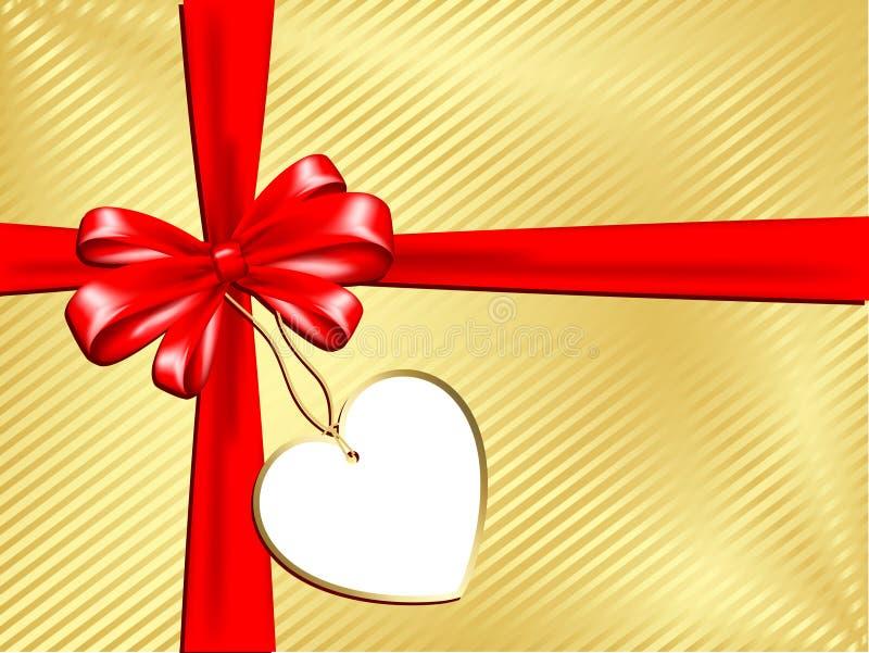 gåvaetikett stock illustrationer