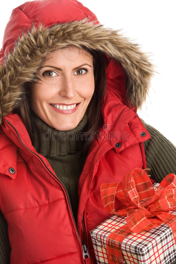 gåvaholdingkvinna arkivfoto
