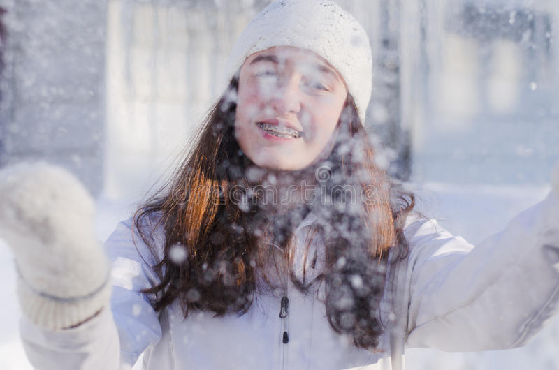 Gåvan av vintern arkivbilder