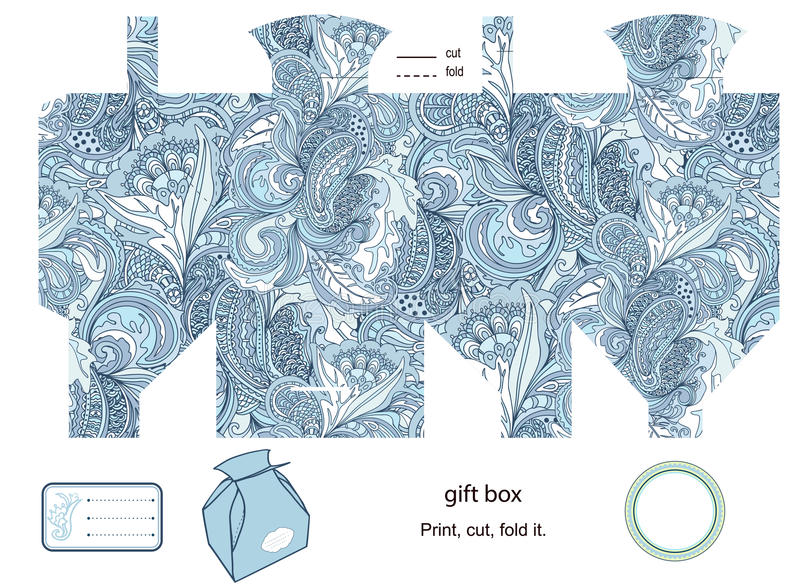 Gåvan boxas mallen vektor illustrationer