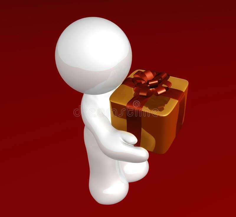 gåvaspecialöverrrakning stock illustrationer