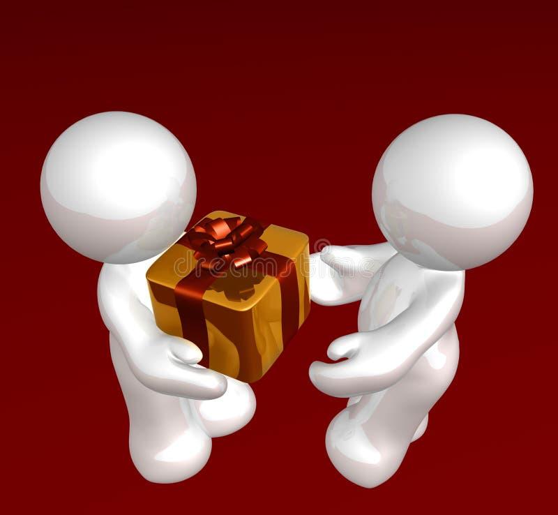 gåvaspecialöverrrakning vektor illustrationer
