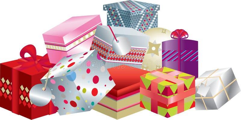 gåvastapel vektor illustrationer