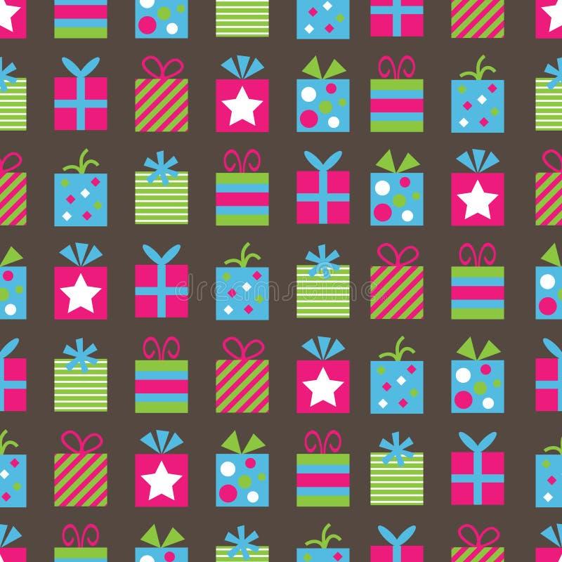gåvor mönsan seamless stock illustrationer