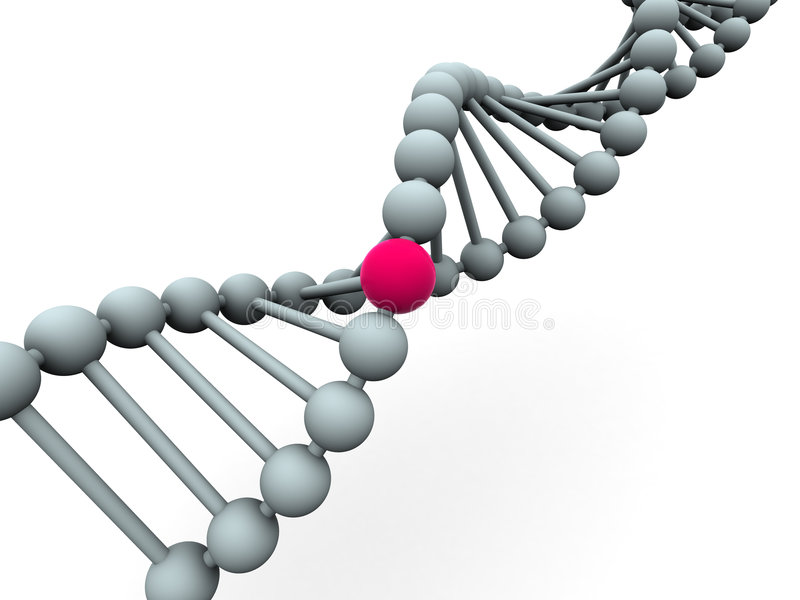 Gène en ADN illustration de vecteur