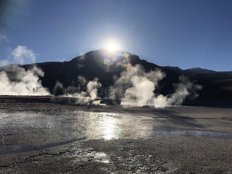 Géiser de Tatio, Atacama, Chile foto de archivo libre de regalías