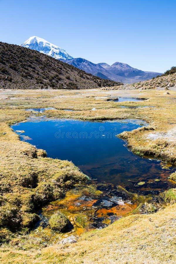 Géiseres de Junthuma, formados por actividad geotérmica bolivia fotografía de archivo