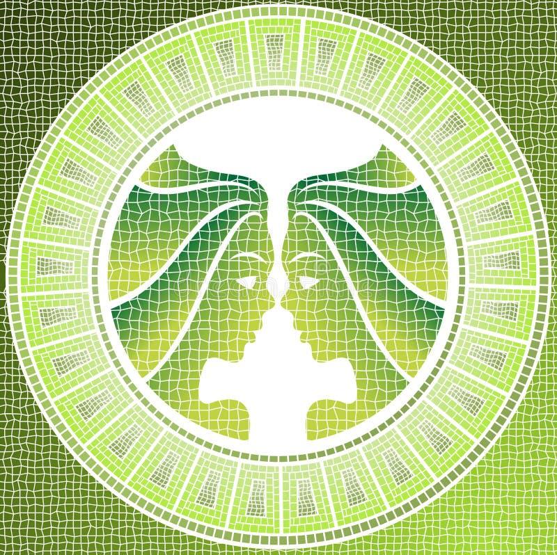 Gémeaux d'élément d'air illustration de vecteur